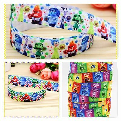 Foe 5/8 Fold Over Elastic By The Metre - Disney Pixar Inside Out