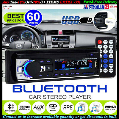 AU Car Stereo Bluetooth Handsfree Radio 1DIN SD/USB/AUX/FM Head Unit MP3 Player