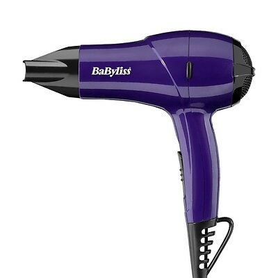 New BaByliss 5282BDU Nano Travel Portable Hair Dryer 1200w - Purple For Women