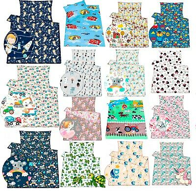 Baby Toddler Crib Cot Cot BED bedding  Duvet cover Pillowcase  SET 100% Cotton