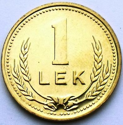 Albania 1 Lek 1988 Aluminium-Bronze Rare Coin Unc Condition