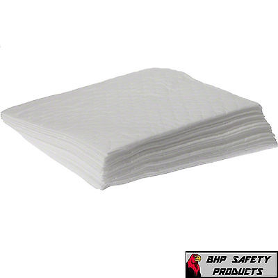 """White Oil Absorbent Pads 17""""x15"""" 100 Pads Per Case (Absorbs All Hydrocarbons)"""