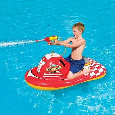 NEW Inflatable Ride-on Pool Float Toy Squirter Kids Floating Water Swimming Lake