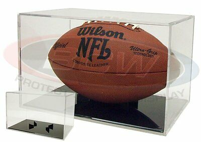 (1) BallQube Football UV Grandstand Case Display Stand Holder Black Base