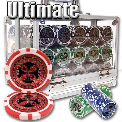 New 600 Ultimate 14g Clay Poker Chips Set with Acrylic Case - Pick Chips!