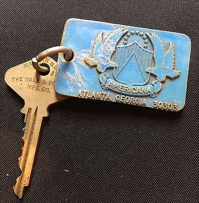 The Americana Hotel Atlanta GA: Room 712: Vintage Plastic Molded Hotel Key FOB