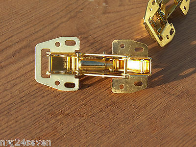 10pc-NOS Cabinet Hydraulic,Tiny House, RV, Camper Door Hinges Brass Flush Mount