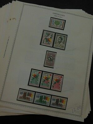 CAMEROUNS : Beautiful all VF MNH collection on pages between 1960-67. Cat $370