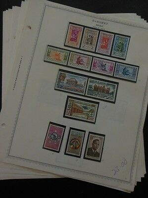 DAHOMEY : Beautiful all VF MNH collection on pages between 1960-1967. Cat $369