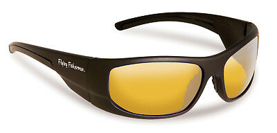 Flying Fisherman CAPE HORN Black Yellow Polarized Sunglasses Polarised 7738NBY