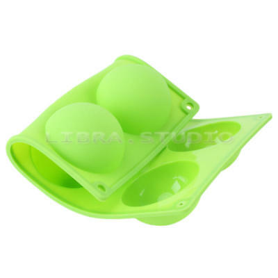Newest Cake Soap Mold 6-Big Half Ball Round Flexible Silicone Candy Cookie Mould