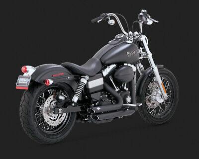 Vance & Hines SHORTSHOTS STAGGERED DYNA 12-15 BLACK (EXCL SWITCHBACK)