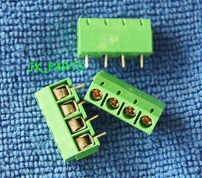 10pcs 5mm Pitch 4 pin 4 way Straight Pin PCB Screw Terminal Blocks Connector