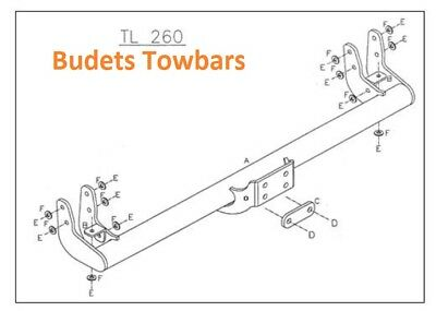1999 to 2019 Nissan Cabstar Towbar /'E/' Pickup//Chassis Tow Trust Flange Towbars