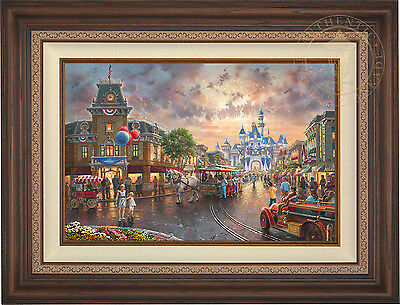 Thomas Kinkade Studios Disneyland 60th Anniversary 18x27 LE P/P Canvas (Framed)