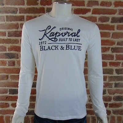 9dd259d5f1e9d Tee shirt KAPORAL Homme manches longues LUPO Blanc ,Taille S M L XL XXL