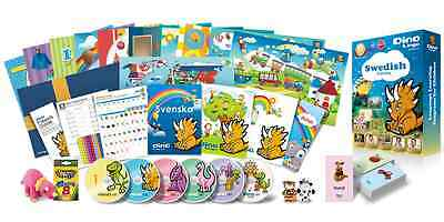 Swedish for Kids Deluxe set, Swedish learning DVDs, Books, Posters, Flashcards
