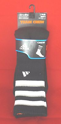 "adidas Men's Team Crew Socks (Pack of 2) ""White & Black"" *New*"