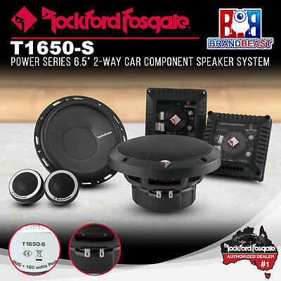 """New Rockford Fosgate T1650-s 6.5"""" Power 2-way Car Component System Speakers"""