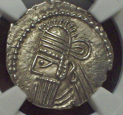NGC Ancients MS Grade PARTHIAN KINGDOM 147-191 AD AR Drachm Vologases IV Arsaces