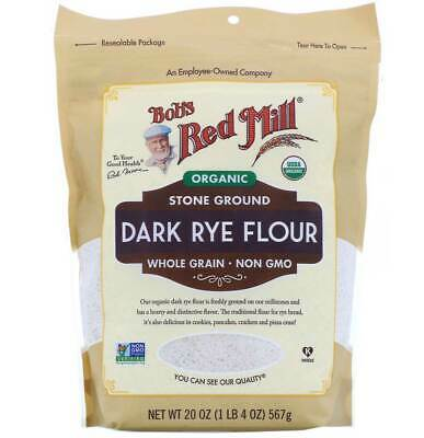 Bob's Red Mill Organic Whole Grain Dark Rye Flour - 22 Oz - Pack of 4