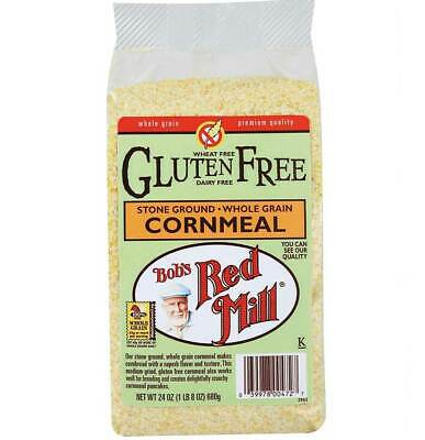 Bobs Red Mill Corn Meal Stone Ground Gluten Free - 24 Oz - Pack of 4