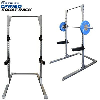 Squat Rack Heavy Duty 2 x J-Hooks, Spotter Arms Pull Up Bar For Gym Fitness