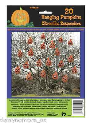 Halloween Spooky Scary Party 20 Hanging Pumpkin Bag Decoration Indoor Outdoor