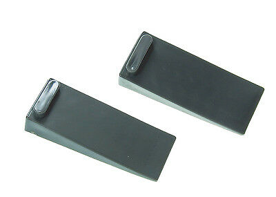 2 x Black Thick RUBBER  Door Stop Stopper Wedge Jam Jammer stoppers , SYDNEY