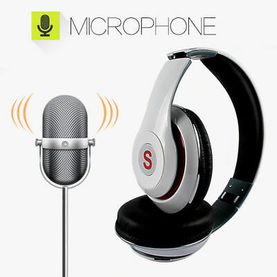 Wireless Bluetooth Headset with Mic Stereo Headphone Super HiFi Bass Earphone