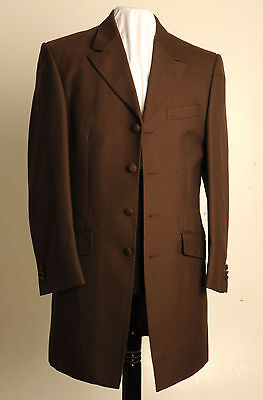 Mj-127.mens Brown Herringbone Prince Edward Jacket,wedding, Dress, Funeral, Suit