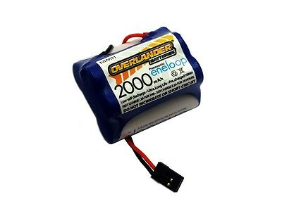 Panasonic Eneloop 2000mAh NIMH AA 6v Receiver battery pack hump - 2871