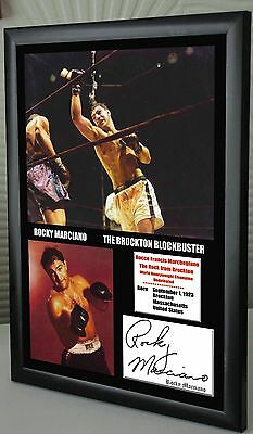 "Rocky Marciano Undefeated World Champion Canvas Print Signed ""Great Souvenir"""
