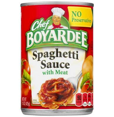 Chef Boyardee Spaghetti Sauce With Meat - 15 Oz - Pack of 24