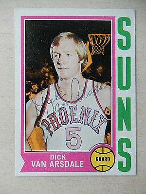 Dick Van Arsdale Autographed 1975 Topps Basketball Card #2