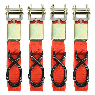 "4pc 1"" x 15ft Ratchet Tie Down 