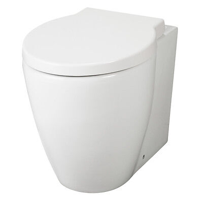 Premier Darwin Back-to-Wall Toilet WC 525mm Projection - Soft Close Seat