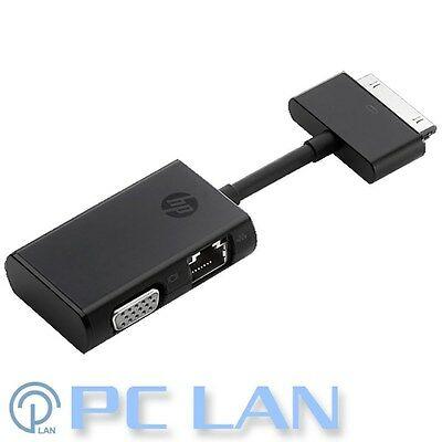 HP Dock Connector to Ethernet and VGA Adapter G7U78AA