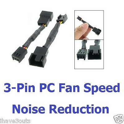 3-Pin PC Computer Cooling Fan Speed And Noise Reduction Cable Lead Accesory Part