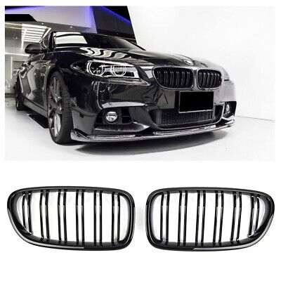 Grille  For Bmw F10 F11 F18 Sport Kidney Double Slat M5 Look Glossy Black