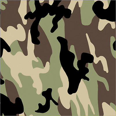 """Gift Wrap 30""""X5' Roll Camouflage 76-022"""