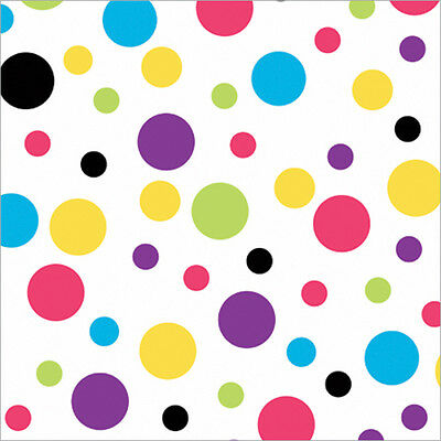 """Gift Wrap 30""""X5' Roll Bright Dots 76-030"""