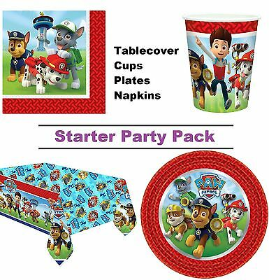 Paw Patrol Dog 8-48 Guest Starter Party Pack - Cup | Plate | Napkin | Tablecover