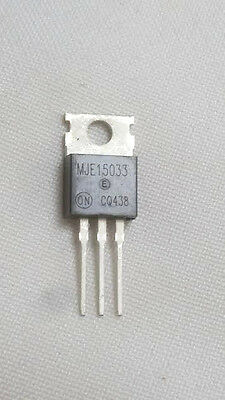 5 PIECES MJE15033 E15033 AUDIO AMPLIFIER HIGH FREQUENCY + USA Free Shipping