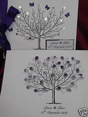 Wedding FINGERPRINT Tree WITH MATCHING PERSONALISED WEDDING GUEST BOOK