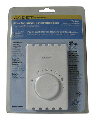 Cadet Thermostat Wall Mount 120/208/240 V 22 A 1 Pole White Ul