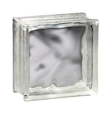 "Decora Glass Block 8 "" X 8 "" X 4 "" Premiere Decora Wave"