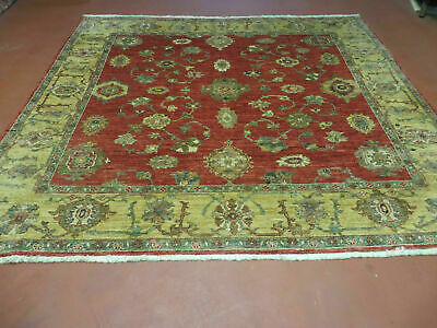 6.5'X7' Vintage Hand Made Persian Mahal Sultanabad Wool Rug Carpet Square Beauty