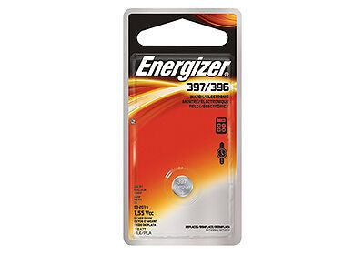 Single Energizer 397 Watch Battery, 0% MERCURY equivilate SR726SW, 726
