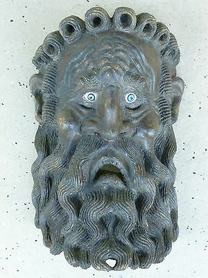Incredible Antique Mexican Mask Of Wind God W Glass Eyes Possibly 19Th Century
